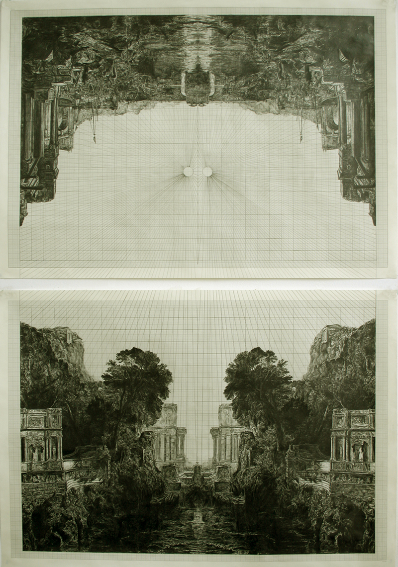 Fruit Of The Pleroma (after Turner),graphite on graph paper, 144cm x 96cm, 2010