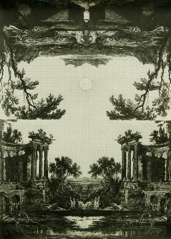 Fruit of the Pleroma (after Patel), graphite on graph paper, 40cm x 29cm, 2011