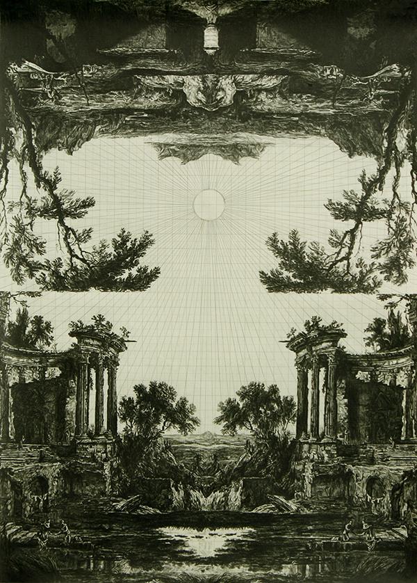 Fruit of the Pleroma (after Patel), graphite on graph paper, 40cm x 29cm, 2011