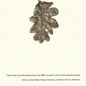 Sibyl's Litter, graphite and printed text on graph paper, 14.5cm x 14.5cm, 2012