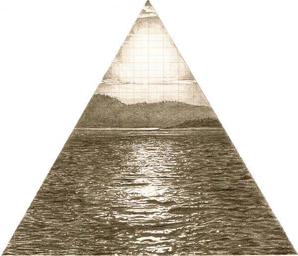 Triad, graphite on graph paper, 20cm x 20cm, 2010