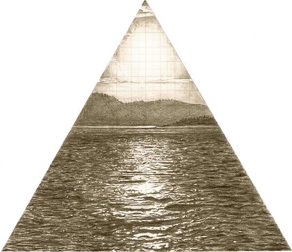 Triad, graphite on graph paper, 20cm x 20cm, 2010